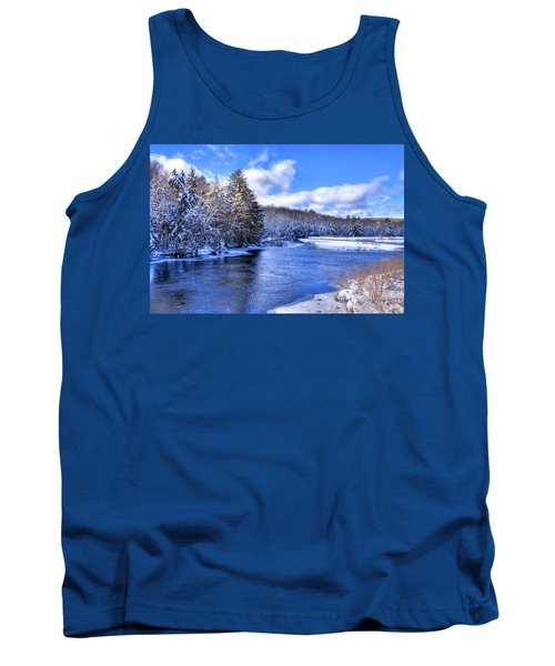 Tank Top featuring the photograph Snowy Banks Of The Moose River by David Patterson