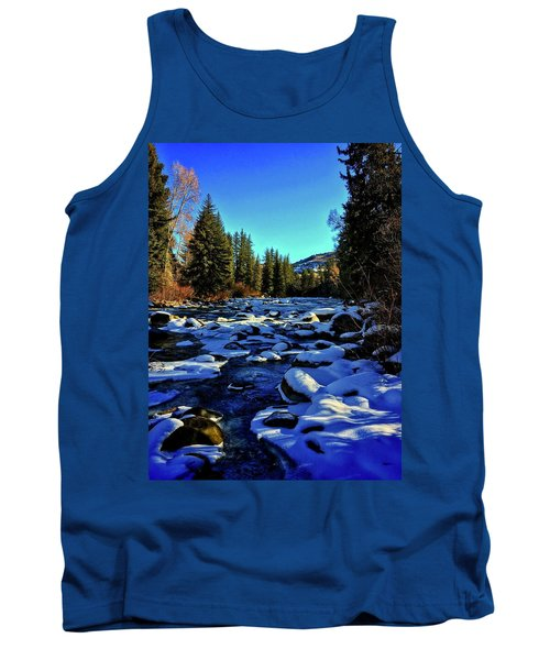 Tank Top featuring the photograph Snowy Eagle River by Dan Miller