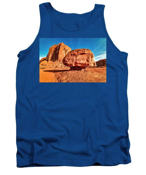Tank Top featuring the photograph Spearhead Mesa's Balancing Rock by Andy Crawford