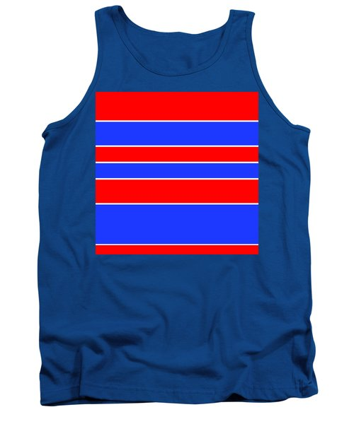 Stacked - Red, White And Blue Tank Top