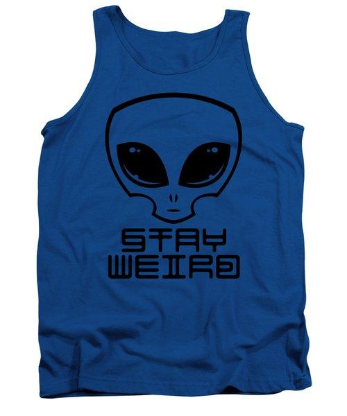 Stay Weird Alien Head Tank Top