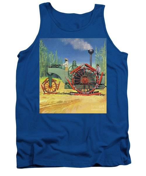 Steam Traction Engine Created To Work In The Sugar Plantations Of Cuba Tank Top