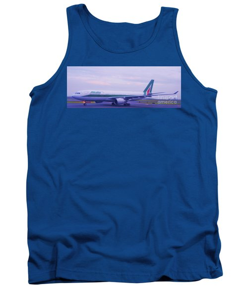 The Alitalia From Rome Landing At Logan, Boston Tank Top