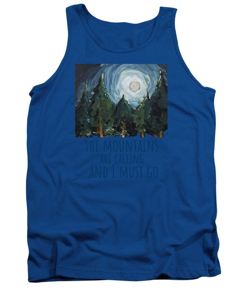 Tank Top featuring the painting The Mountains Are Calling by Maria Langgle