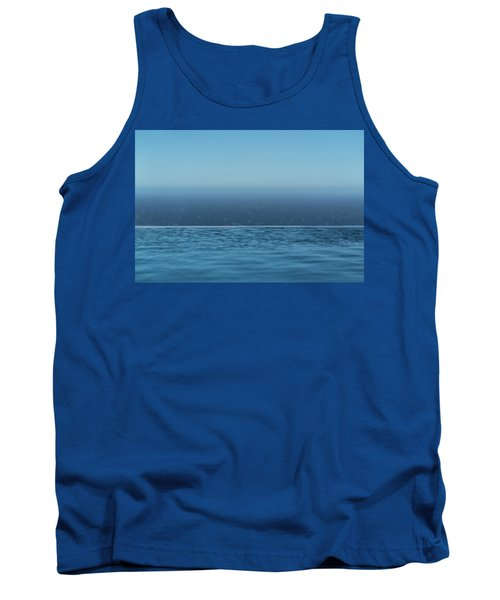 Three Layers Of Blue Tank Top
