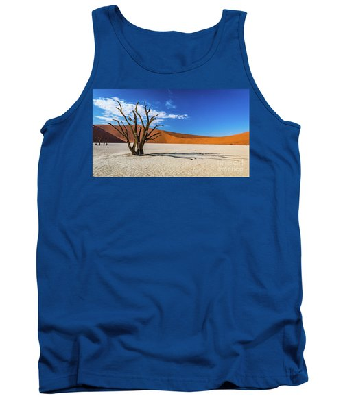 Tree And Shadow In Deadvlei, Namibia Tank Top