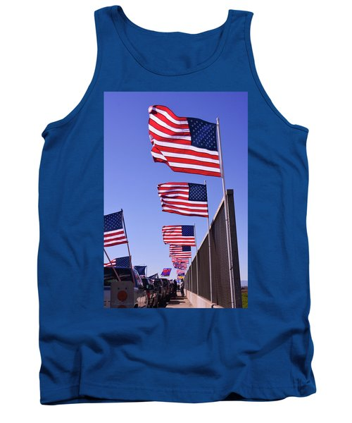U.s. Flags, Presidents Day, Central Valley, California Tank Top