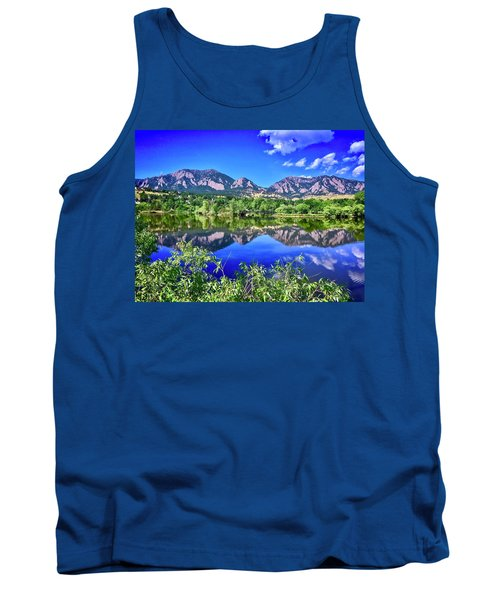 Tank Top featuring the photograph Viele Lake 2 by Dan Miller