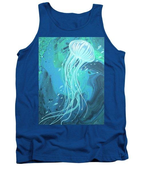 White Jellyfish Tank Top