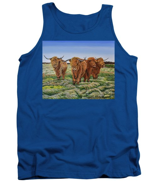 Windswept Highland Cattle  Tank Top