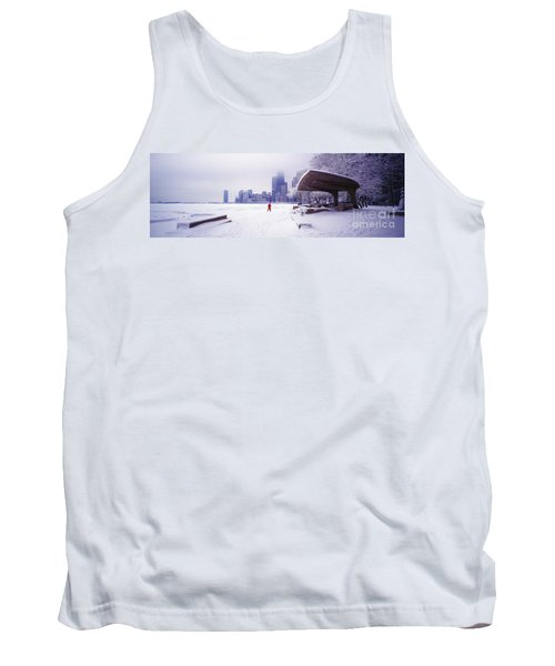 North Ave Beach Chess Palv Chicago Lake Front  Tank Top