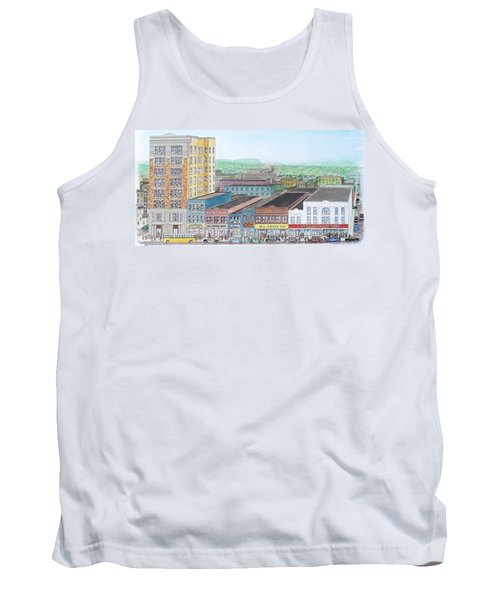 Portsmouth Ohio Dime Store Row 4th To 5th Tank Top by Frank Hunter