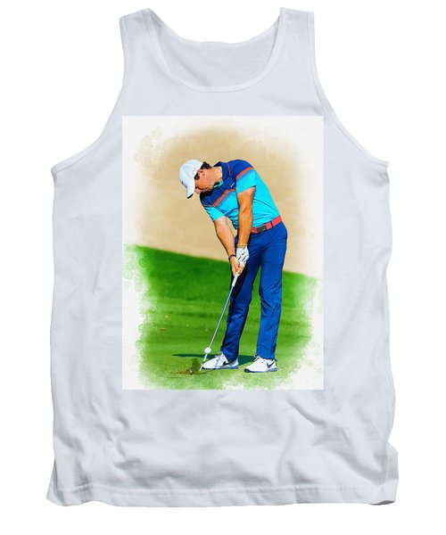 Rory Mcilroy Plays His Second Shot On The Par 4 Tank Top