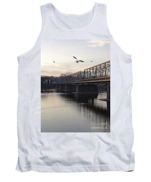 Gulls At The Bridge In January Tank Top