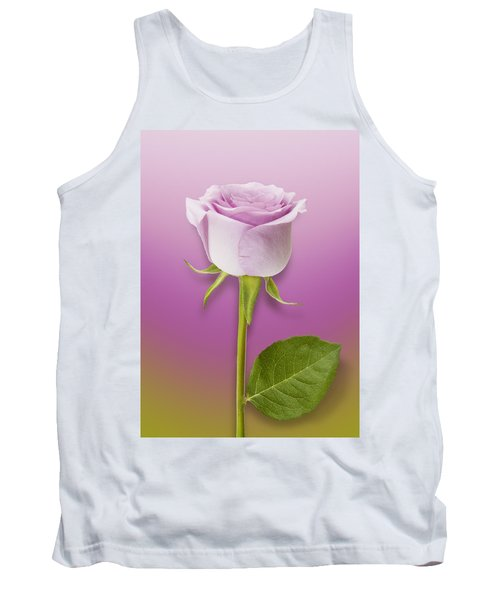 Single Lilac Rose Tank Top