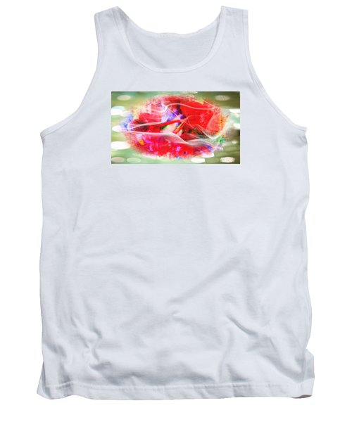 The Flowers Of Fiery Red In Abstract Concept  Tank Top