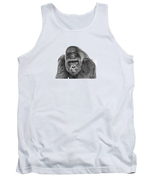 042 - Gomer The Silverback Gorilla Tank Top by Abbey Noelle