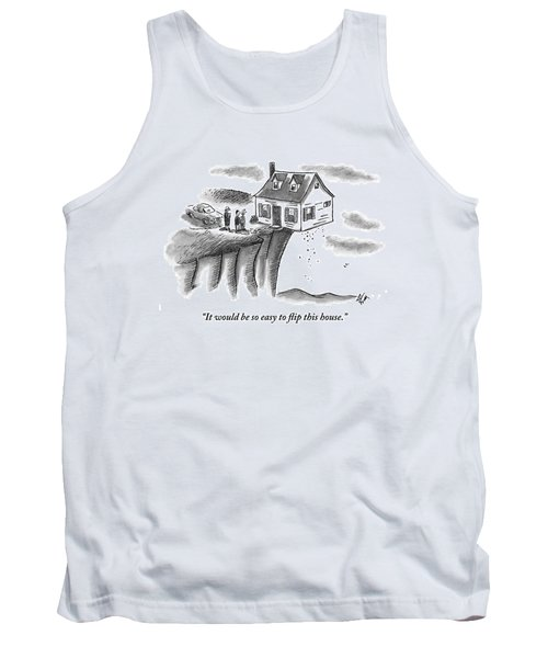 A Couple And A Real Estate Representative Stand Tank Top