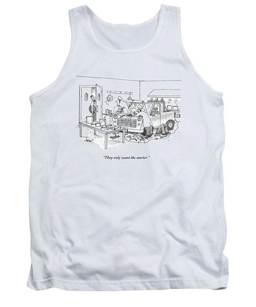 A Waiter Speaks To The Chefs In The Kitchen Tank Top