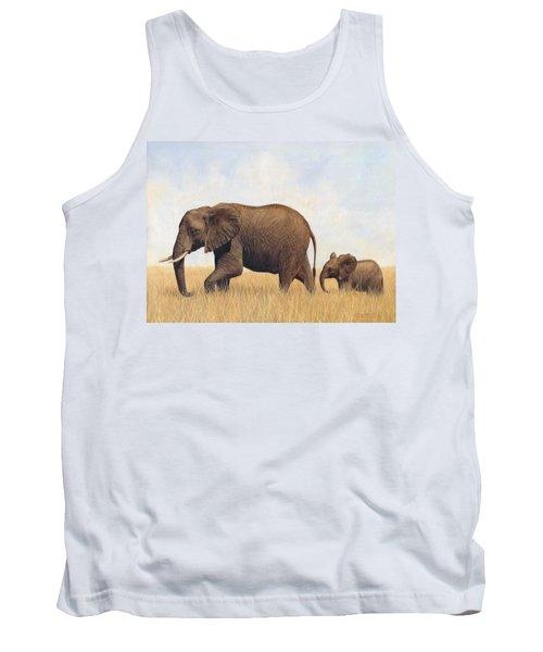 African Elephants Tank Top