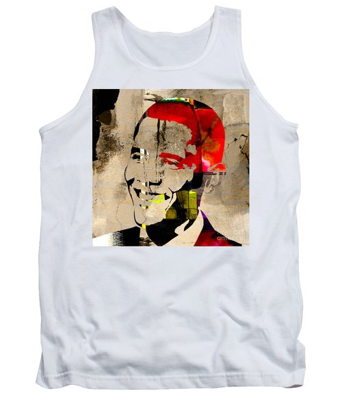 Tank Top featuring the photograph Barack Obama by Marvin Blaine