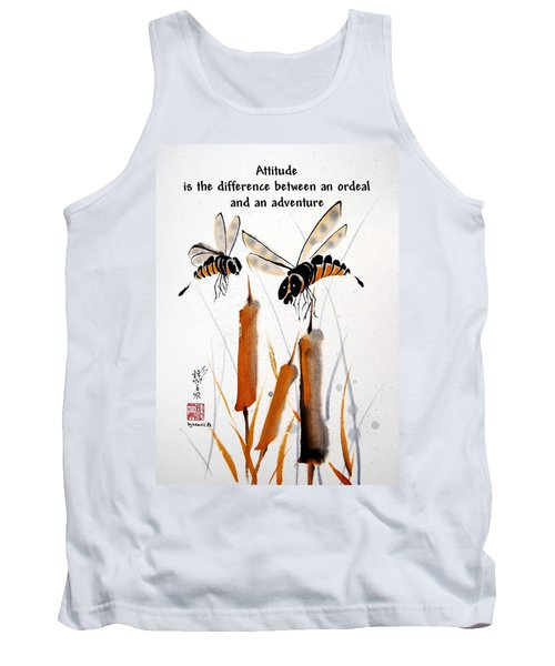 Tank Top featuring the painting Beeing Present by Bill Searle