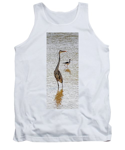 Blue Heron And Stilt Tank Top