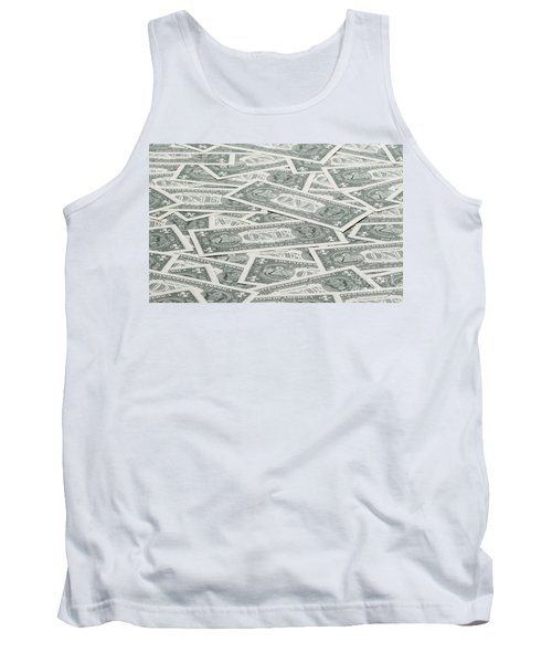 Tank Top featuring the photograph Carpet Of One Dollar Bills by Lee Avison