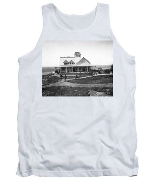 Casino At The Top Of Mt Beacon In Black And White Tank Top