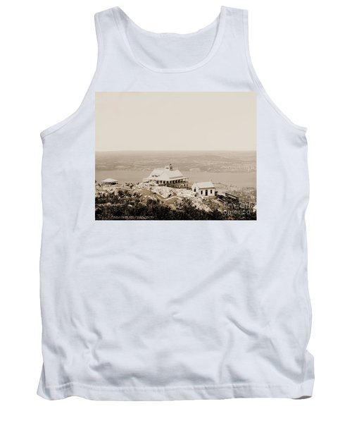 Casino At The Top Of Mt Beacon In Sepia Tone Tank Top