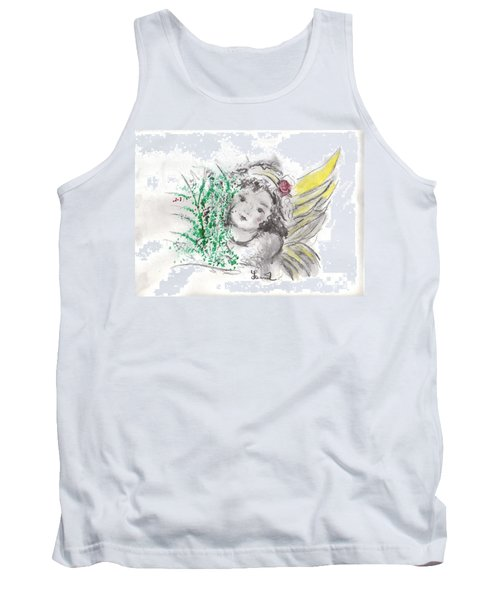 Christmas Angel Tank Top by Laurie L