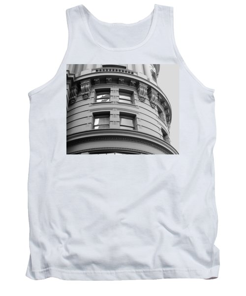 Circular Building Details San Francisco Bw Tank Top by Connie Fox