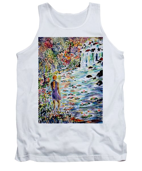 Tank Top featuring the painting Daughter Of The River by Alfred Motzer