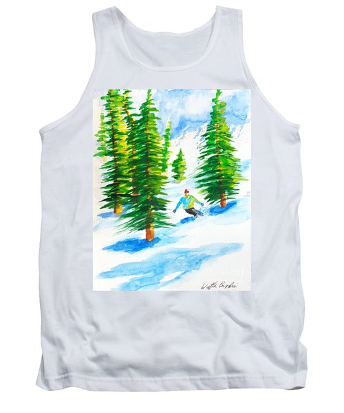 David Skiing The Trees  Tank Top