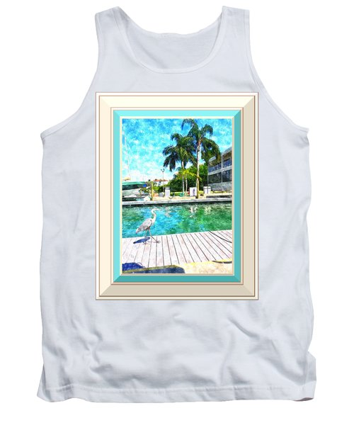 Dry Dock Bird Walk - Digitally Framed Tank Top