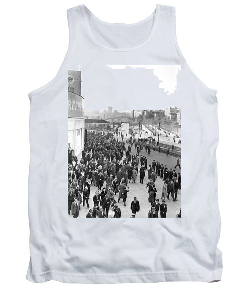 Fans Leaving Yankee Stadium. Tank Top by Underwood Archives