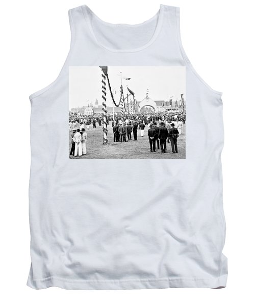 Tank Top featuring the photograph Festival Place Millerntor Hamburg Germany 1903 by A Gurmankin