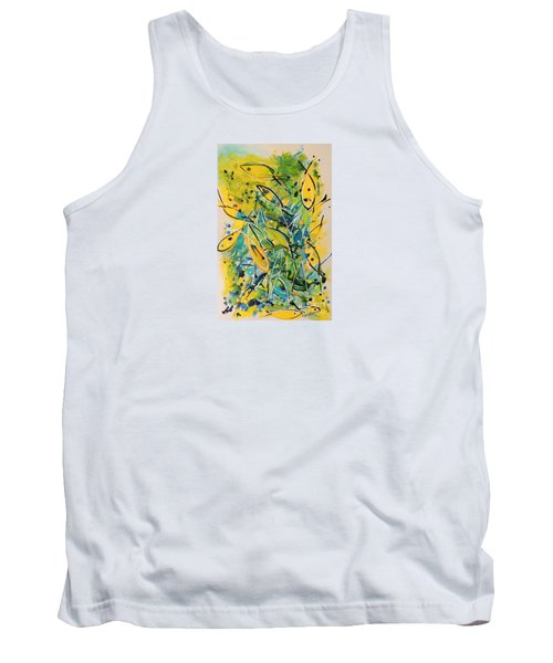 Tank Top featuring the painting Fish Frenzy by Lyn Olsen