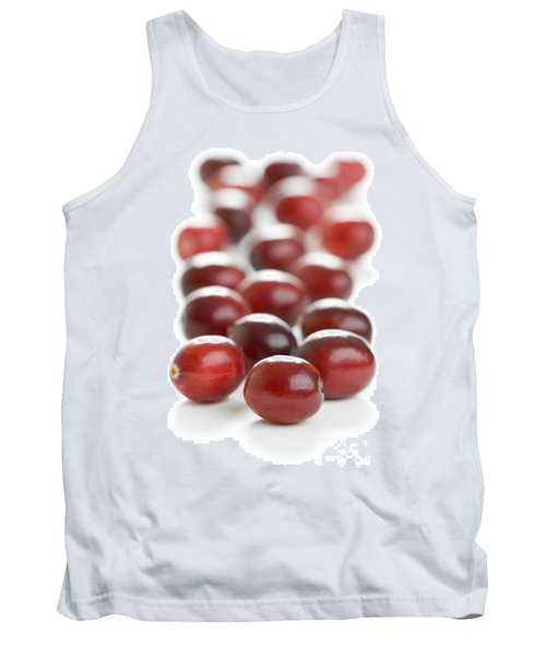 Tank Top featuring the photograph Fresh Cranberries Isolated by Lee Avison