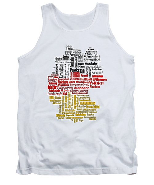 Germany Map Tank Top