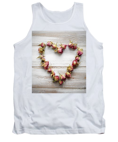 Heart From Dry Rose Buds Tank Top