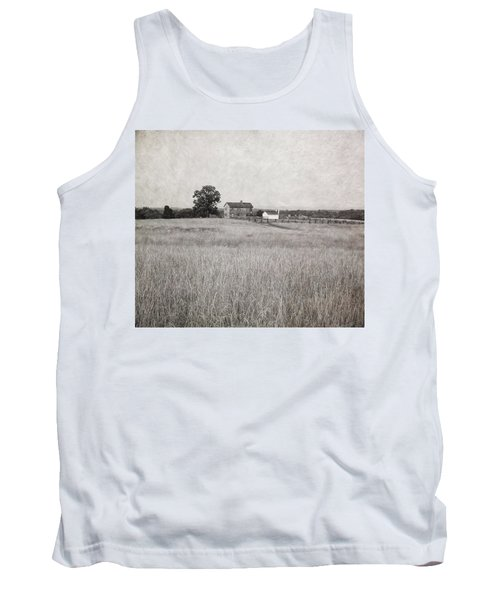 Henry House At Manassas Battlefield Park Black And White Tank Top