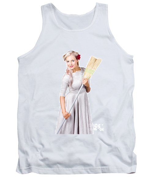 Housemaid With Broom Tank Top
