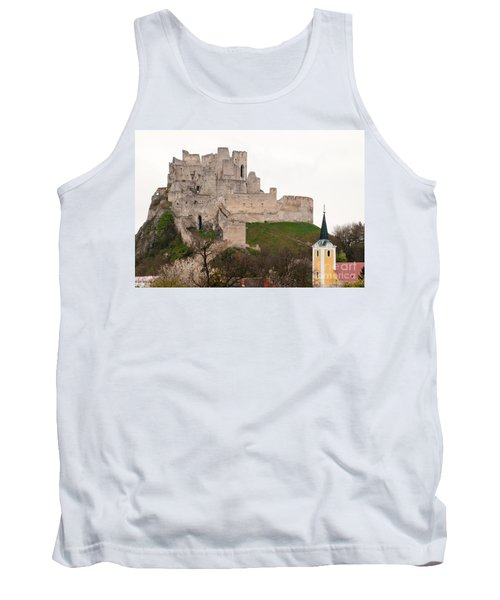 Tank Top featuring the photograph Hrad Beckov - Castle by Les Palenik