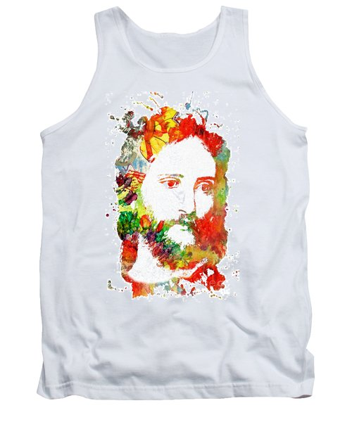 Jesus Christ - Watercolor Tank Top