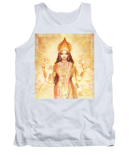 Lakshmi The Goddess Of Fortune And Abundance Tank Top by Ananda Vdovic