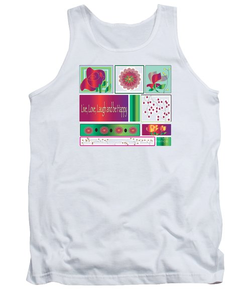 Tank Top featuring the drawing Laugh by Iris Gelbart