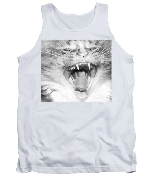 Laughing Cat Tank Top by Jeannette Hunt