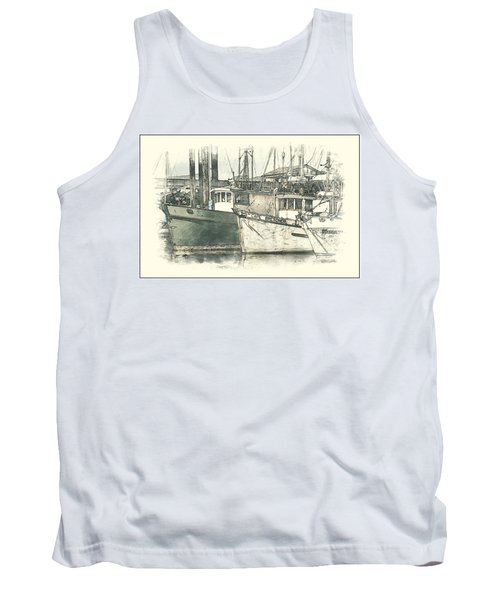 Moored Fishing Boats Tank Top