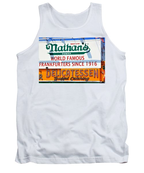 Nathan's Sign Tank Top by Valentino Visentini